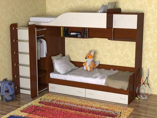 Металлические кровати.  Достоинство детских двухъярусных кроватей в