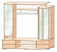 Шкаф универсальный (венге+мл.дуб)