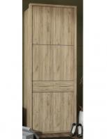 Шкаф 2 дверный для платья и белья 238 Прихожая № 26