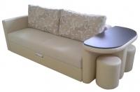 Леон 1 прямой диван с полукруглым столиком