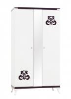 Шкаф 2-х дверный с зеркалом cute