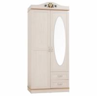 Шкаф 2-х дверный с зеркалом Pearl