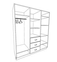 Шкаф 3-х дверный Юниор сосна тонированная
