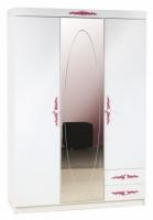 Шкаф 3-х дверный с зеркалом angel