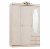 Шкаф 3-х дверный с зеркалом Pearl