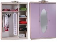 Шкаф 3-х дверный с зеркалом lilac