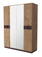 Шкаф 4 х дверный с зеркалом Бруно ИД 01.414
