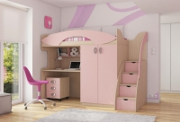 Детская кровать чердак Мики 7 РМК модульная