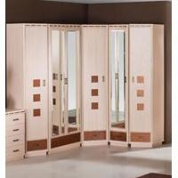 Кэри Gold Шкаф 1-дверный с зеркалом