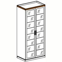 Петра-М1 Шкаф 2-дверный с 2-мя зеркалами
