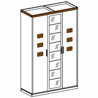 Петра-М1 Шкаф 3-дверный с 1-м зеркалом