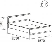 Кровать 1400 х 2000 37 Ника-Люкс