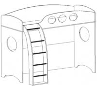 Кровать 2-ой ярус + лестница Тандем рмк