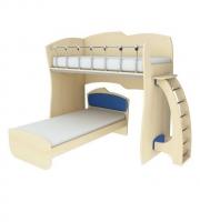 Кровать 2-х ярусная КД 1-6 (без ниж. сп.места)