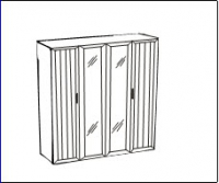 Соната Шкаф для платья и белья ИД 01.119