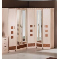 Кэри Голд Шкаф 1-дверный с зеркалом