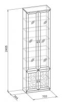 Шкаф для книг-11 Корпус