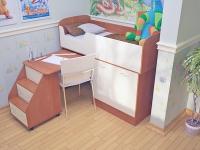 Кровать чердак Дюймовочка 2 Микро
