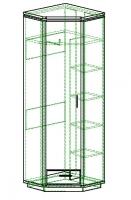 Шкаф для одежды угловой гл.390