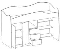 Кровать-чердак Ника 3 рмк