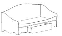 Кровать нижняя Нео 2