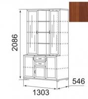 Шкаф комбинированный для посуды (39Р) Ника-Люкс