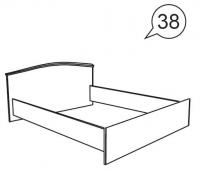 Кровать  на 1600 х 2000 52 Ника-Люкс
