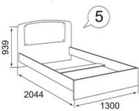 Кровать без ортопедического основания(стекло, постер) Бьянка
