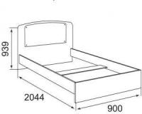 Кровать (800 мм) без ортопедического основания (стекло) Бьянка