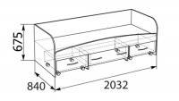 Кровать с ящиками Бьянка