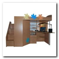 Детская кровать-кабинет Конструктор