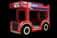 Автобус-чердак с рабочим местом  стол + 2 полочки Dreamracer