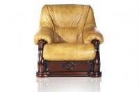 Кресло кожаное раскладное Классика