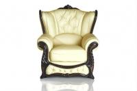 Кресло кожаное Прага