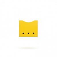 Ящик в стеллаж желтый Лайма