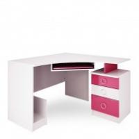 Стол компьютерный Ниагара розовый