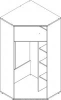 Шкаф угловой Бекас СВ-341