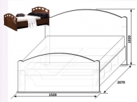 Кровать М1400 КМК 0320.13 Клеопатра