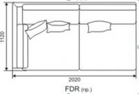 Диван Фиеста модуль FDR