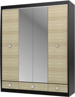 Шкаф с зеркалом 4-х дверный с 3-мя ящиками СТЛ.078.19 Дуб феррар