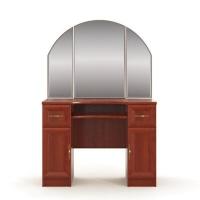 Юлианна СТЛ.004.03 Стол туалетный с зеркалом Вишня барселона