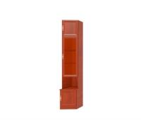 Юлианна СТЛ.004.09 Шкаф торцевой со стеклом правый Вишня барсело