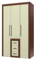Валенти СТЛ.046.10 Шкаф 3-х дверный с ящиками Слива/Крем