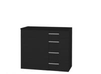 Наоми СТЛ.049.06 Комод с 4-мя ящиками Дуб феррара/МДФ Венге