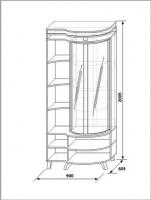 Шкаф витрина левая КМК 0365.3