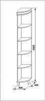 Полка угловая левая КМК 0364.5 белая