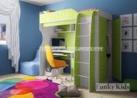 Кровать чердак детская Фанки Кидз 11 СВ