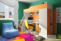 Детская кровать чердак Фанки 11 + лестница-комод 13/8 СВ