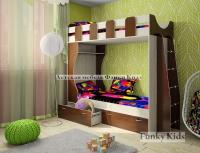 Двухъярусная детская кровать Фанки Кидз 5 СВ