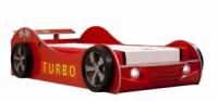 Кровать-машина красная  turbo eco